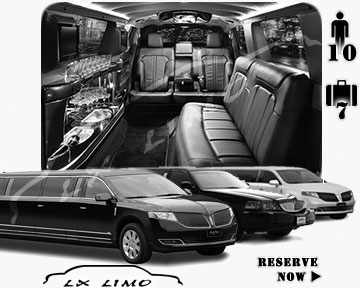 Stretch Limo airport shuttle in Las Vegas