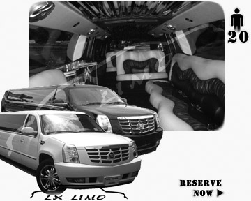Cadillac Escalade 20 passenger SUV Limousine for rental in Las Vegas, NV